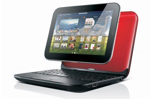 IdeaPad U1 in laptop mode.