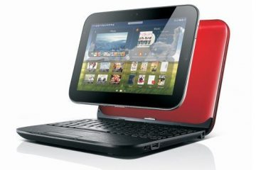 IdeaPad U1 tablet functions as a laptop as well.