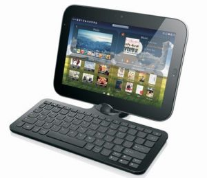 Pictured: Le Pad with optional keyboard dock
