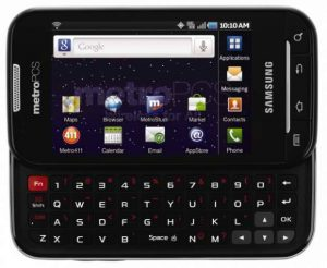 MetroPCS/Samsung smartphone: the Galaxy Indulge
