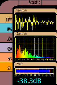 Tricorder screen showing audio spectrum