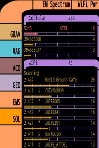 Tricorder screen: EM readings