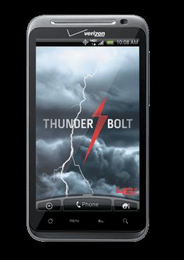 Verizon's new Thunderbolt smartphone by HTC.