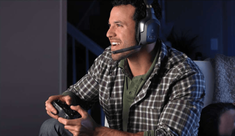 Gamer with headset