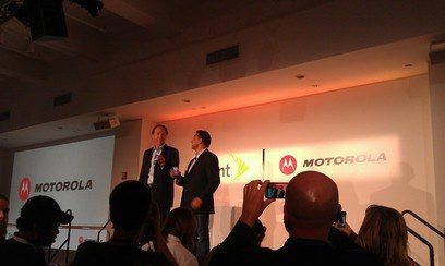 CEO Sprint and Motorola bring HOTNESS to NY...and not just 94° record Heat!