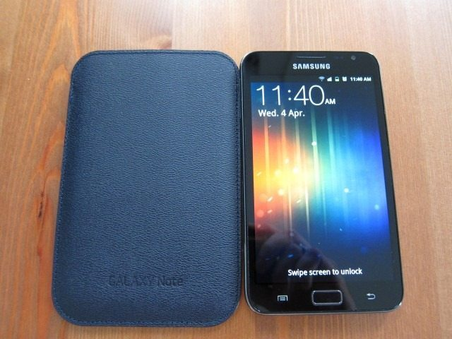 GalaxyNoteCasereviewpart21 Custom thumb1 Samsung Galaxy Note Flip Cover and Leather Pouch Case Review