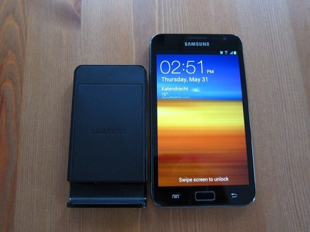 NoteHolderCharger1 thumb Samsung Galaxy Note Holder and Battery Charger Review