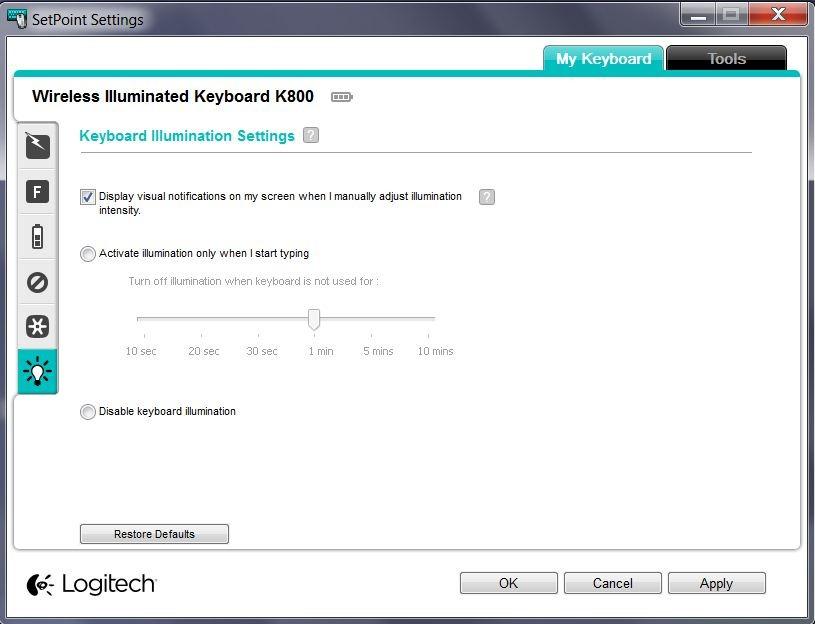 The Logitech Wireless Illuminated Keyboard K800 Review